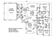Ranch Floor Plan - Main Floor Plan Plan #513-2185