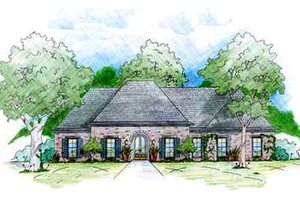 European Exterior - Front Elevation Plan #36-442