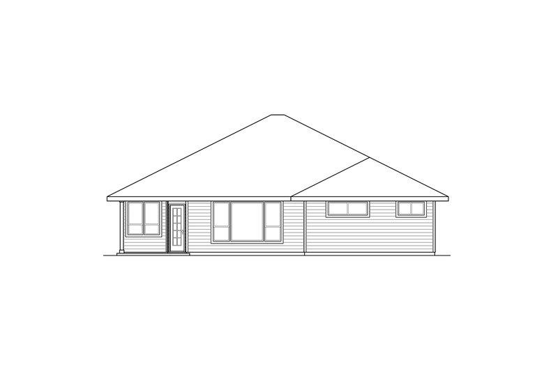 Prairie Exterior - Rear Elevation Plan #124-911 - Houseplans.com