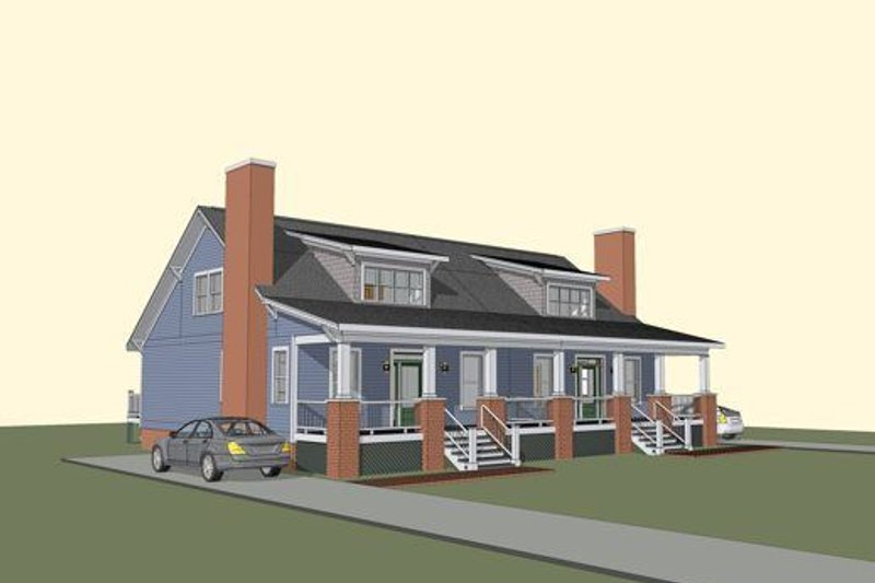 Craftsman Style House Plan - 3 Beds 2 Baths 2920 Sq/Ft Plan #79-247 Exterior - Front Elevation