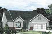 Traditional Style House Plan - 3 Beds 2.5 Baths 1392 Sq/Ft Plan #20-1244 Exterior - Front Elevation