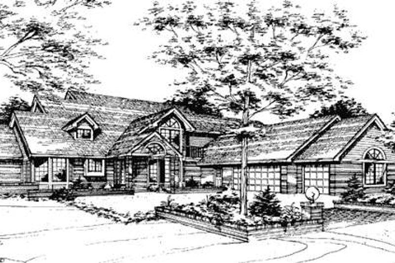 Bungalow Exterior - Front Elevation Plan #320-339