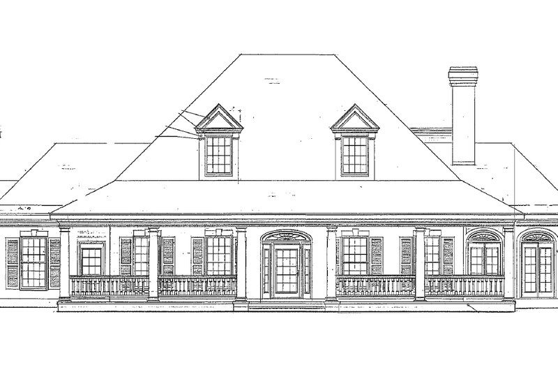Southern Exterior - Other Elevation Plan #410-146 - Houseplans.com