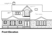 Victorian Style House Plan - 3 Beds 2.5 Baths 1953 Sq/Ft Plan #23-725 Exterior - Other Elevation