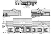 Traditional Style House Plan - 3 Beds 3 Baths 2097 Sq/Ft Plan #56-164 Exterior - Other Elevation