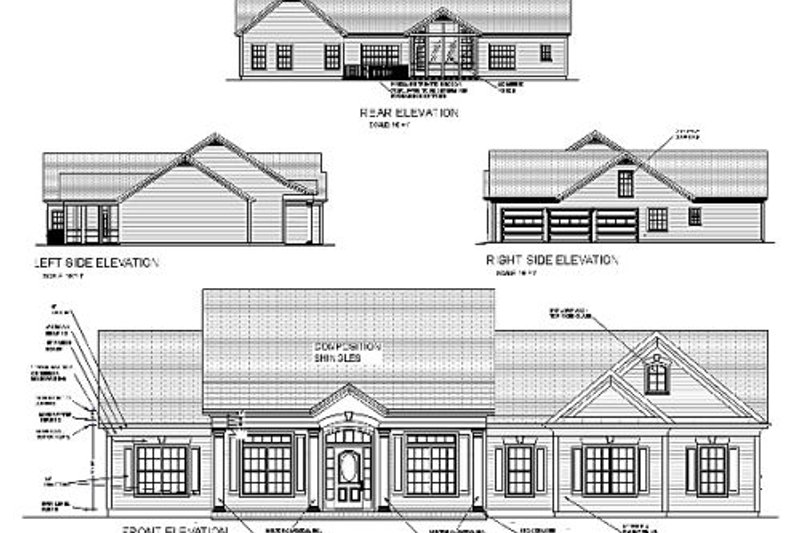 Traditional Exterior - Other Elevation Plan #56-164 - Houseplans.com