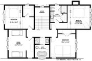 Cottage Style House Plan - 5 Beds 3 Baths 2415 Sq/Ft Plan #928-314 Floor Plan - Upper Floor Plan