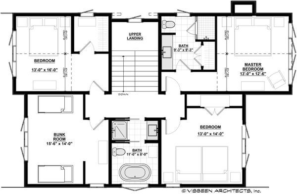 Cottage Floor Plan - Upper Floor Plan Plan #928-314