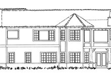 House Plan Design - Country Exterior - Rear Elevation Plan #942-29