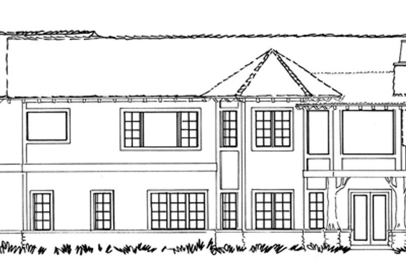 Country Exterior - Rear Elevation Plan #942-29 - Houseplans.com