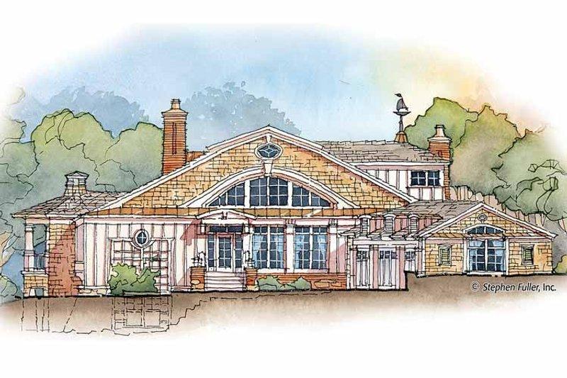 Craftsman Exterior - Front Elevation Plan #429-358 - Houseplans.com