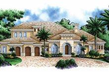 Home Plan - Mediterranean Exterior - Front Elevation Plan #1017-107