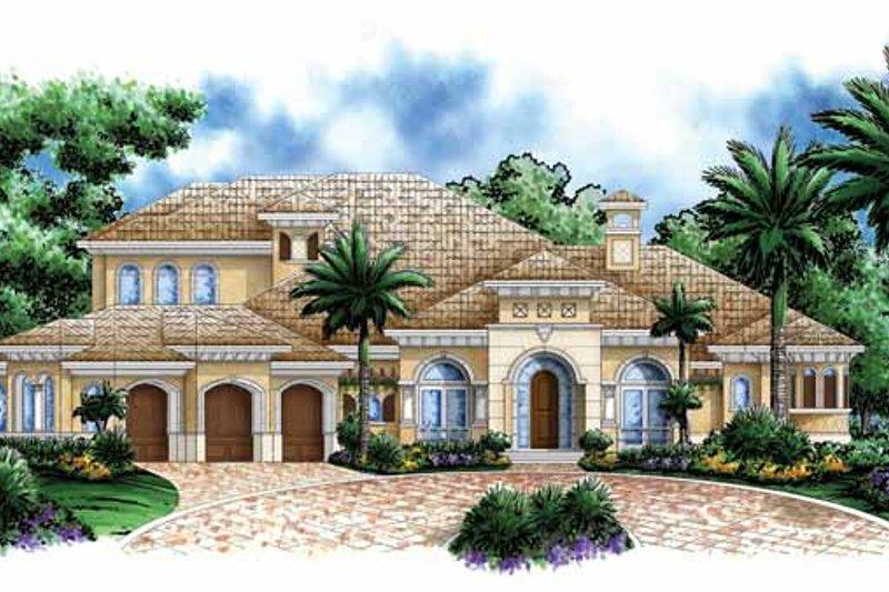 Dream House Plan - Mediterranean Exterior - Front Elevation Plan #1017-107
