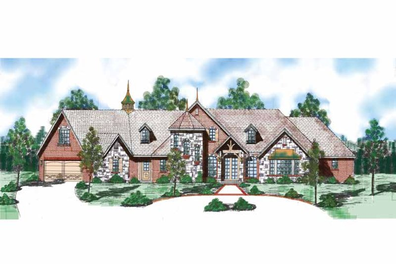 Traditional Exterior - Front Elevation Plan #52-253 - Houseplans.com