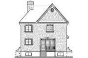 European Style House Plan - 3 Beds 2.5 Baths 1687 Sq/Ft Plan #23-297 Exterior - Rear Elevation