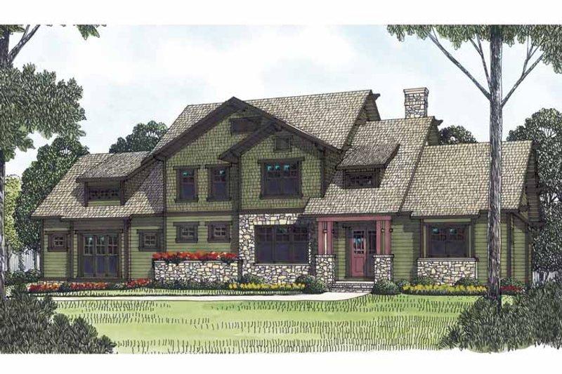 Craftsman Exterior - Front Elevation Plan #453-558 - Houseplans.com