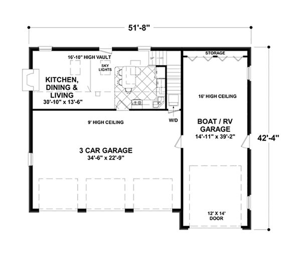 Craftsman Floor Plan - Main Floor Plan Plan #56-617