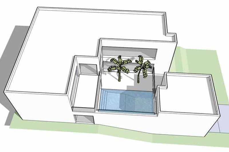 Contemporary Exterior - Other Elevation Plan #64-298 - Houseplans.com