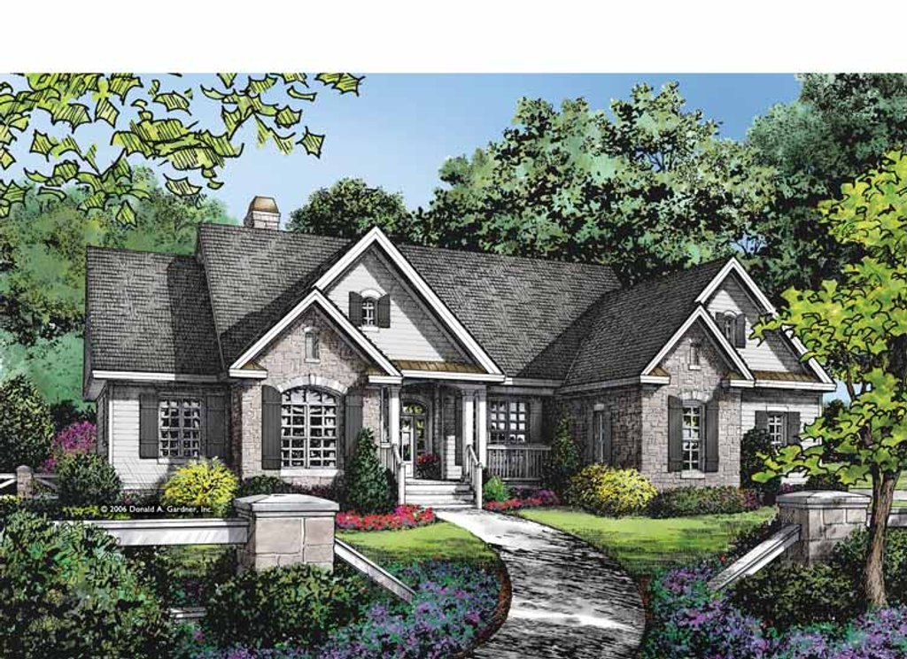 Ranch style house plan 4 beds 3 baths 2388 sq ft plan for European plan
