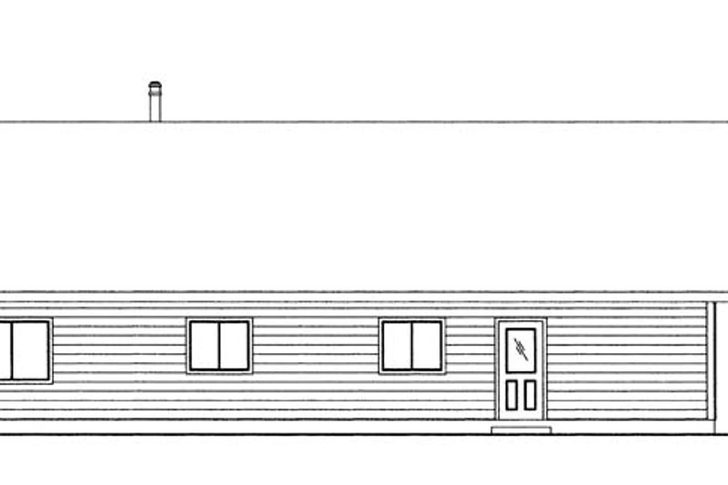 Cabin Exterior - Rear Elevation Plan #117-857 - Houseplans.com