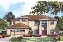 Architectural House Design - Country Exterior - Front Elevation Plan #1015-53