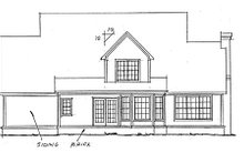Home Plan - Country Exterior - Rear Elevation Plan #20-333