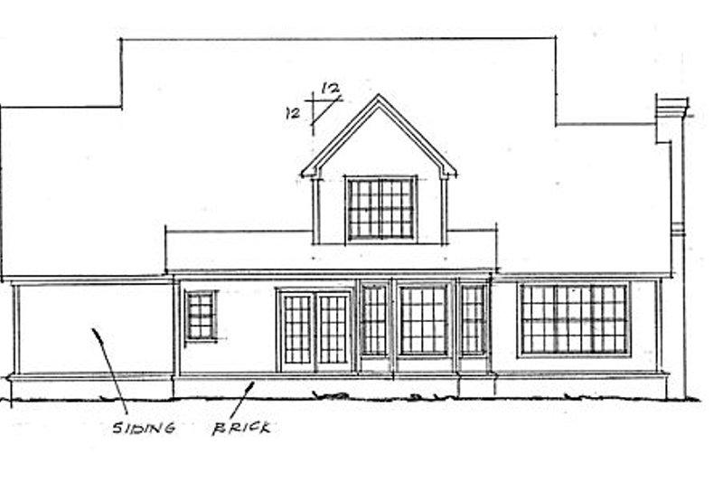 Country Exterior - Rear Elevation Plan #20-333 - Houseplans.com