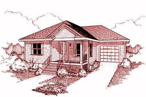 Traditional Exterior - Front Elevation Plan #79-131