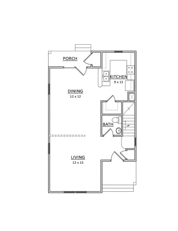 Traditional Floor Plan - Main Floor Plan Plan #936-27