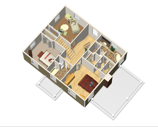 Colonial Floor Plan - Upper Floor Plan Plan #25-4679