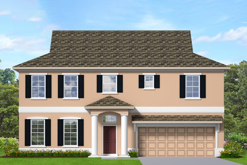 Traditional Style House Plan - 3 Beds 3.5 Baths 2552 Sq/Ft Plan #1058-202 Exterior - Front Elevation