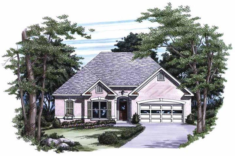 House Plan Design - Mediterranean Exterior - Front Elevation Plan #927-217