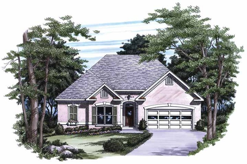 House Design - Mediterranean Exterior - Front Elevation Plan #927-217