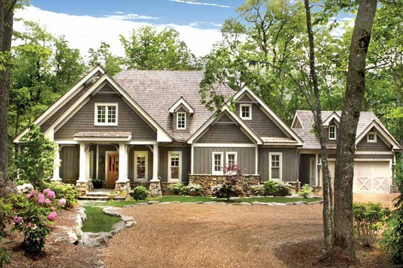 Ranch Exterior - Front Elevation Plan #54-365 - Houseplans.com