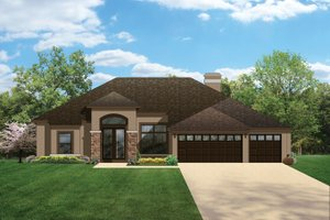 Home Plan - Craftsman Exterior - Front Elevation Plan #1058-47