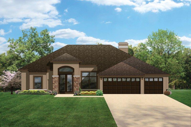 Home Plan - Craftsman Exterior - Front Elevation Plan #1058-47