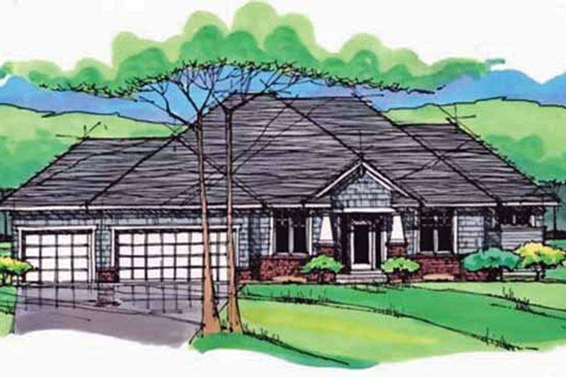 Dream House Plan - European Exterior - Front Elevation Plan #51-981