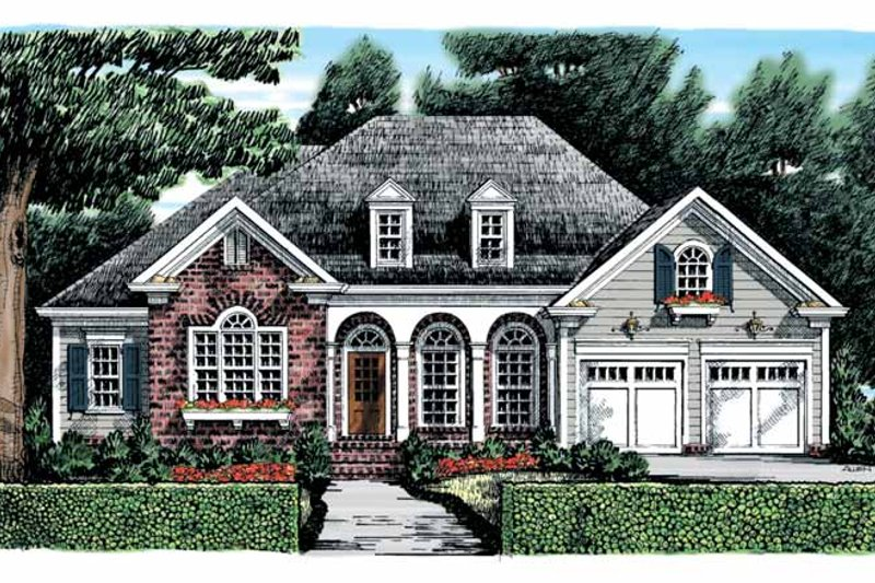 Country Exterior - Front Elevation Plan #927-867