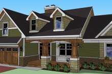 Dream House Plan - Craftsman Exterior - Front Elevation Plan #51-512