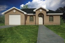 Ranch Exterior - Front Elevation Plan #1061-28