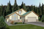 Modern Style House Plan - 3 Beds 2 Baths 1659 Sq/Ft Plan #117-432 Exterior - Front Elevation
