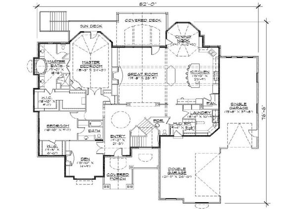 Craftsman Floor Plan - Main Floor Plan Plan #5-334