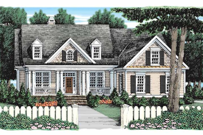 Country Exterior - Front Elevation Plan #927-922