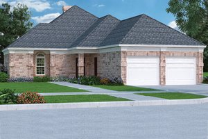 Ranch Exterior - Front Elevation Plan #45-388