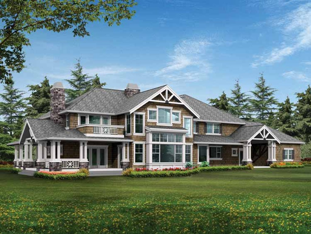 The Sater Design Collection Craftsman Style House Plan 4 Beds 3 5 Baths 4300 Sq Ft