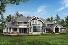 Craftsman Exterior - Rear Elevation Plan #132-249