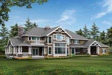 Dream House Plan - Craftsman Exterior - Rear Elevation Plan #132-249