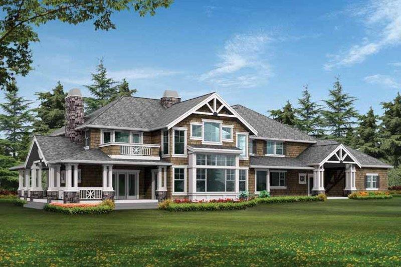 Craftsman Exterior - Rear Elevation Plan #132-249 - Houseplans.com