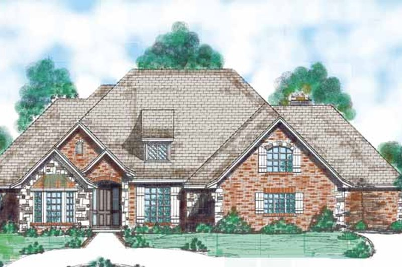 Traditional Exterior - Front Elevation Plan #52-286