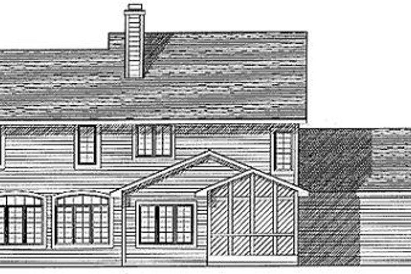 Traditional Exterior - Rear Elevation Plan #70-449 - Houseplans.com